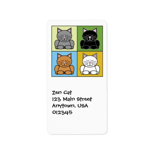 Zen Cat Address Avery Label