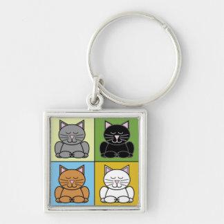 Zen Cat Keychain