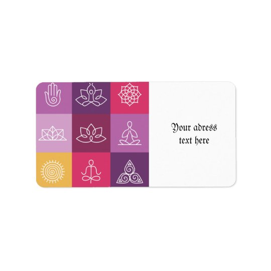 zen,chakra,yoga,peace,ohm,tranquilty,lotus,meditat address label