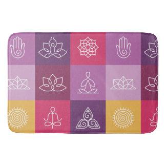 zen,chakra,yoga,peace,ohm,tranquilty,lotus,meditat bath mat