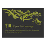 Zen Chic Massage Therapist Coupon Business Card