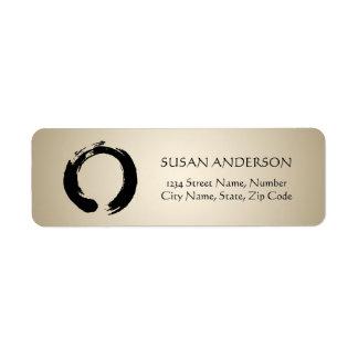 Zen Circle Address Label