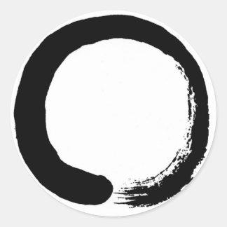 Zen Circle Design product Classic Round Sticker