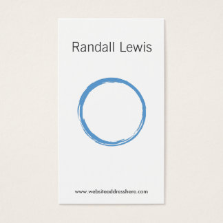 ZEN CIRCLE in SKY BLUE Business Card