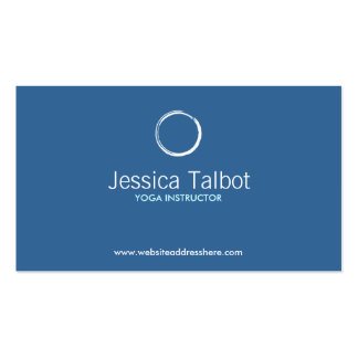 ZEN CIRCLE in WHITE/BLUE Business Card Pack Of Standard Business Cards