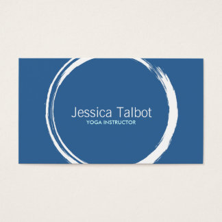 ZEN CIRCLE in WHITE/BLUE II Business Card
