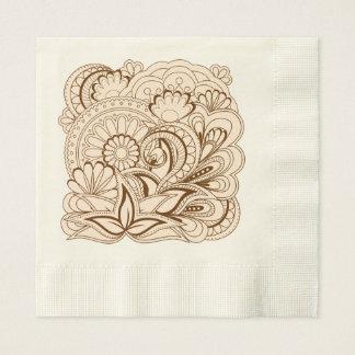 zen composition with sends them disposable napkin