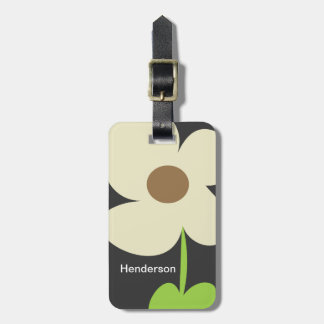 Zen Daisy Personalized Luggage Tag