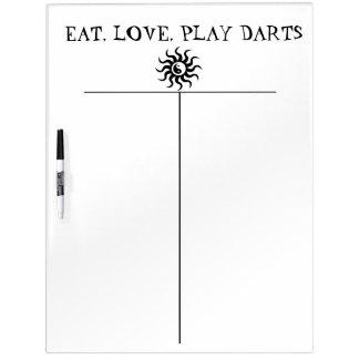Zen Darts Score Board-Aztec Yin-Yang Sun Dry-Erase Whiteboard