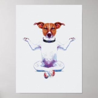 Zen Dog I Watercolor Poster