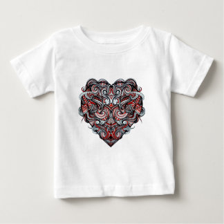 Zen Doodle Heart Shape Red, White, Black Abstract Tshirt
