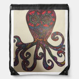 Zen doodle octopus rucksack