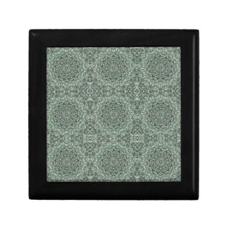 Zen Doodle Zen Tangle Tribal Ornate Detail Green Gift Box