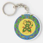 zen dragon ring basic round button key ring