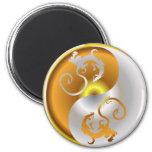 Zen Dragons Refrigerator Magnet