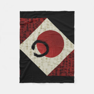 Zen Ensō Circle with Kanji Potential  1 Fleece Blanket