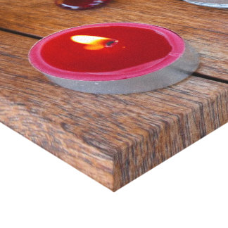 Zen - environment red candles stretched canvas print