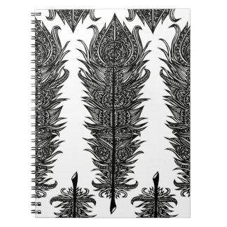 Zen Feather Design Spiral Notebook