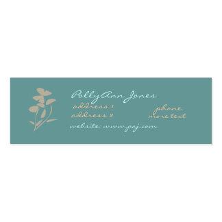 Zen flowers+butterfly Business Card-skinny