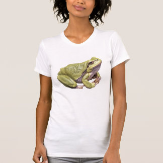Zen Frog Cute Green Treefrog Meditation Pose Tshirts