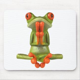 Zen frog mouse pad