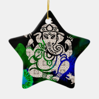 Zen Ganesh Ceramic Ornament
