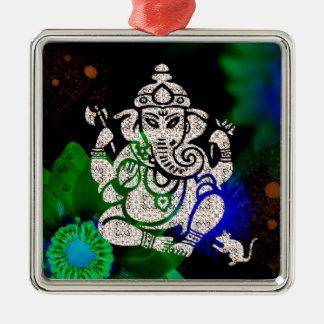 Zen Ganesh Metal Ornament
