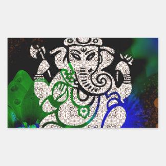 Zen Ganesh Rectangular Sticker
