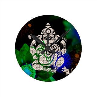 Zen Ganesh Round Clock