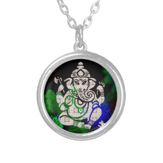 Zen Ganesh Silver Plated Necklace