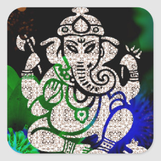 Zen Ganesh Square Sticker