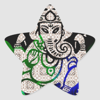 Zen Ganesh Star Sticker