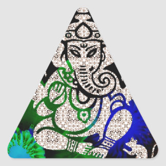 Zen Ganesh Triangle Sticker