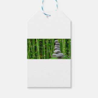 Zen Garden Meditation Monk Stones Bamboo Rest Gift Tags