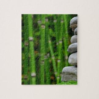 Zen Garden Meditation Monk Stones Bamboo Rest Jigsaw Puzzle