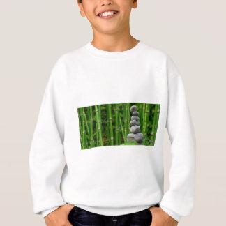 Zen Garden Meditation Monk Stones Bamboo Rest Sweatshirt