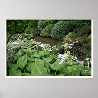 Zen Garden poster with white borders