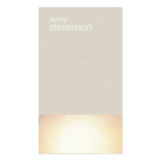 Zen Gold Glow Minimalist Taupe Texture Look Pack Of Standard Business Cards