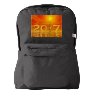 Zen happy new year 2017 - 3D render Backpack