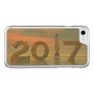 Zen happy new year 2017 - 3D render Carved iPhone 7 Case