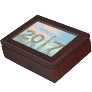 Zen happy new year 2017 - 3D render Keepsake Box