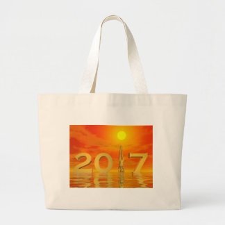 Zen happy new year 2017 - 3D render Large Tote Bag