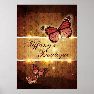 Zen Holistic Healing butterfly Yoga Instructor Poster