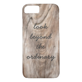 zen inspirational quote on weathered wood design iPhone 8/7 case