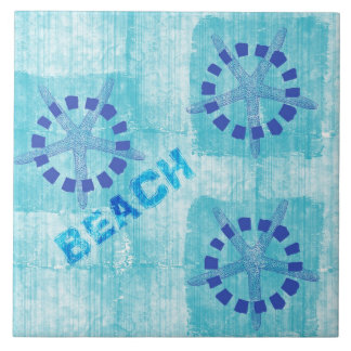 Zen Inspired Beach Theme Starfish Ceramic Tile
