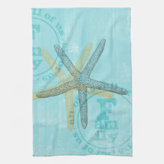 Zen Inspired Beach Theme Starfish Tea Towel