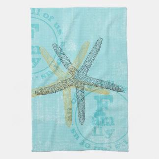 Zen Inspired Beach Theme Starfish Tea Towel