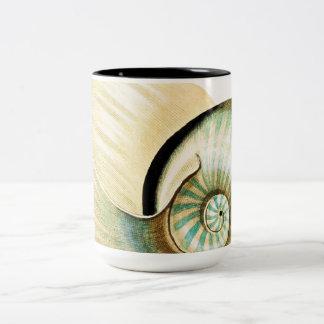Zen Inspired Beach Theme Two-Tone Coffee Mug
