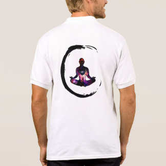 Zen Inspired Enso Cosmic Meditation 2-sided Polo