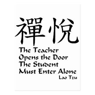 Zen Joy - The Teacher Post Card